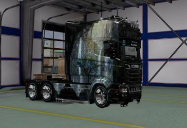Skin Fantastic Peyzaj v3 for Scania RJL Longline