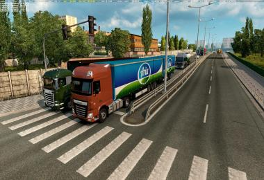 Double trailers in traffic