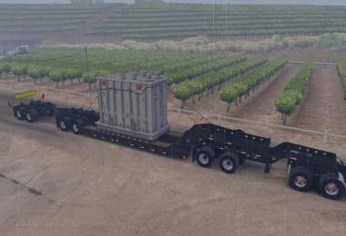 Long Oversized Trailer Magnitude 55l with a Load Transformer