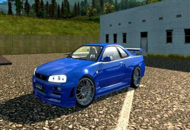 Nissan Skyline GTR R34 v2.0 improved 1.27.x