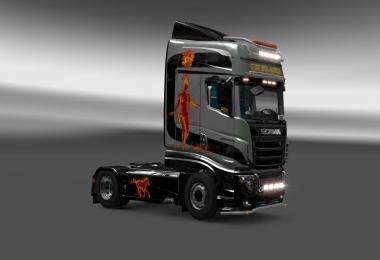 Scania R700 In Flame skin 1.27
