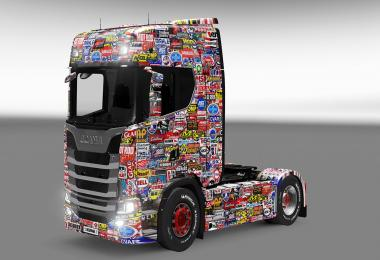 Scania S730 Sticker bomb skin 1.27.x