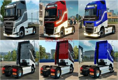 Volvo FH Metalic Paintable Holland Skin