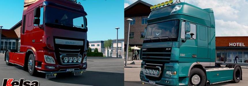 Kelsa Lightbars for DAF XF 105 & 106 v1.0 (18.08.17)