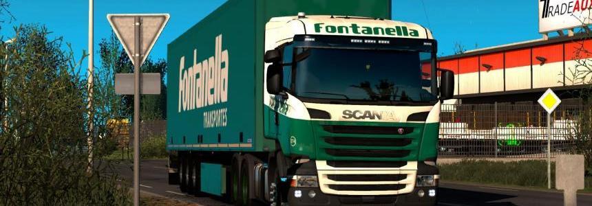Skin Fontanella for Scania (RJL) + Trailer Schimitz Fontanella 1.28