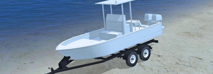 20FT Bay Boat & Trailer v1