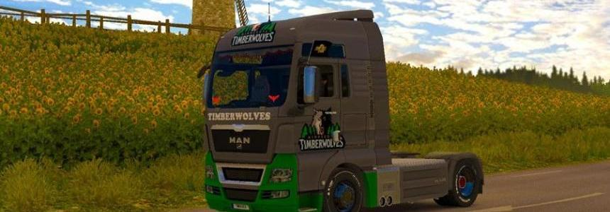 Skin Timber Wolves for MAN TGX