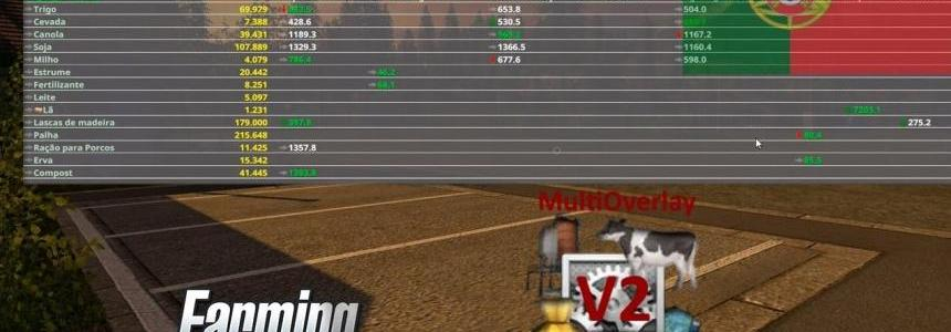 Multi Overlay Hud LS17 Convert v2.93 Beta