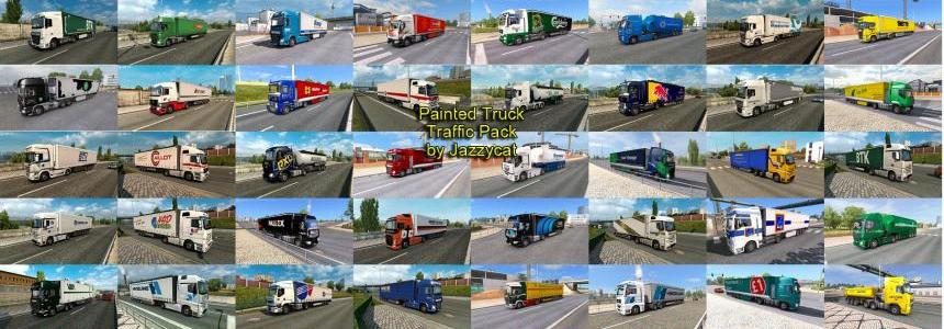 Painted Truck Traffic Pack by Jazzycat v4.1