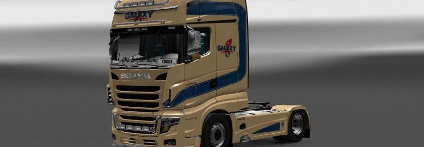 Scania R700 Galaxy Express skin 1.28