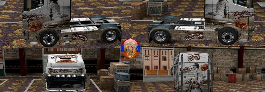 Scania R700 RS (RJL) Chocapic Combo Skin Packs