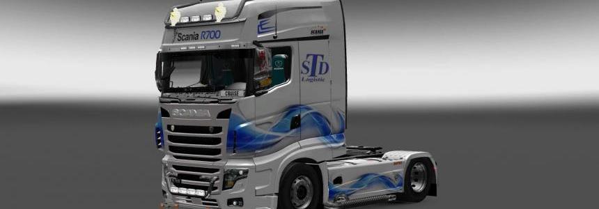 Scania R700 STD Logistic skin 1.28