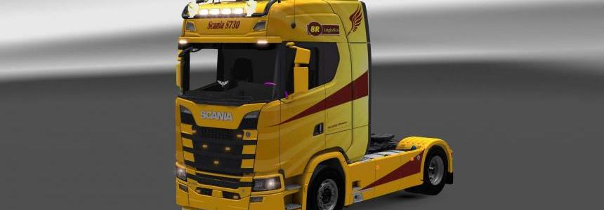 Scania S730 8R Logistics skin 1.28.x