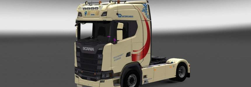 Scania S730 InterCargo skin 1.28