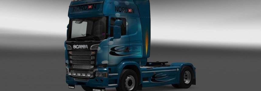 Scania Streamline Norden skin 1.28