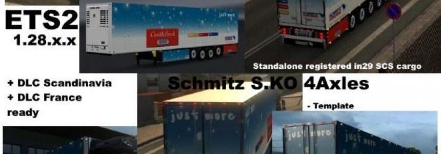 Schmitz Cargobull S.KO 4 axles Reefer Trailer v1.1