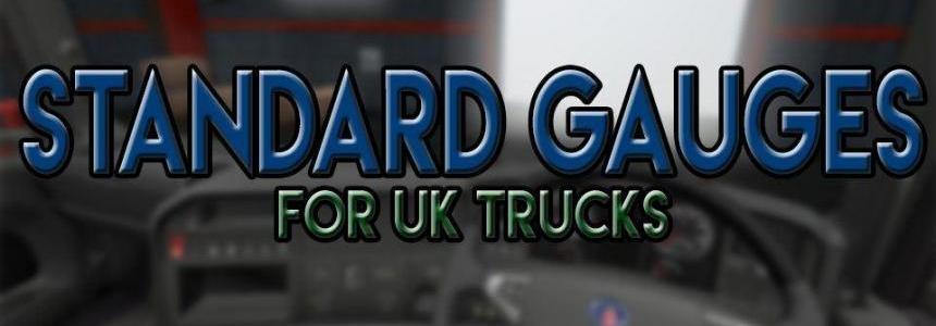 Standard Gauges For UK Trucks v1.0