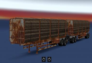 Cargo double trailer rust for ETS 1.28