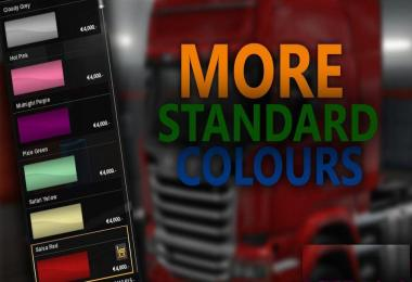 More Standard Colours Mod v1.0