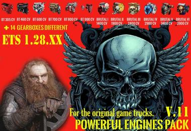 Pack Powerful engines + gearboxes v11 for 1.28.x