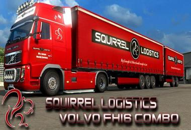 Squirrel Logistics Volvo FH16 Combo v1.0