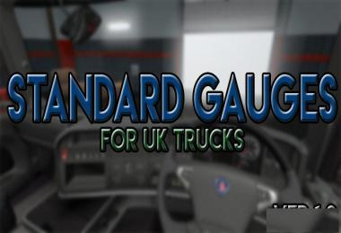 Standard Gauges For UK Trucks v1.0