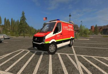 VW Crafter KEF Skin of the fire department Dusseldorf v1.0