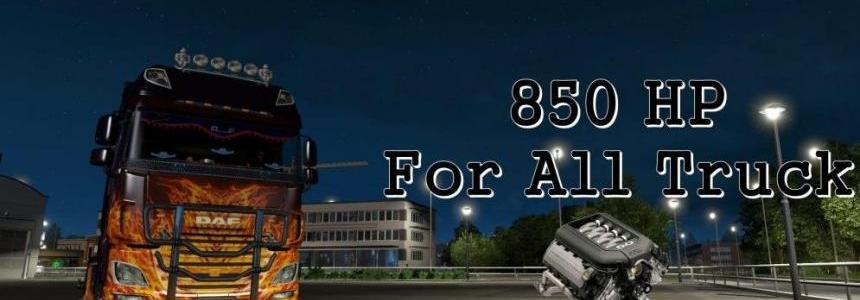 850 HP For All Truck V8 (1.28.x)