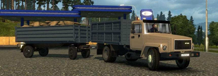 GAZ 3307-33081 v4.0 + Trailers for GAZ and ZIL (1.27, 1.28)