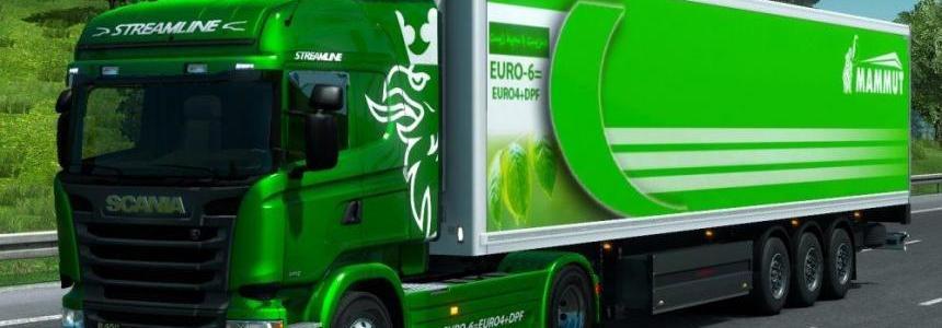 Scania R450 Skin + Trailer (Green Truck) v1.0