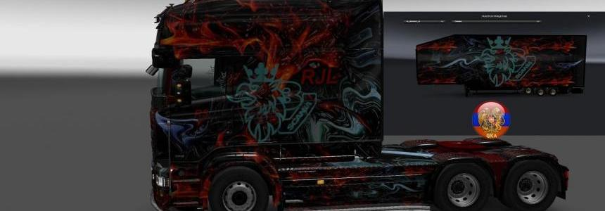 Scania RS Abstract Comdo Skin Packs 1.28.1.3s