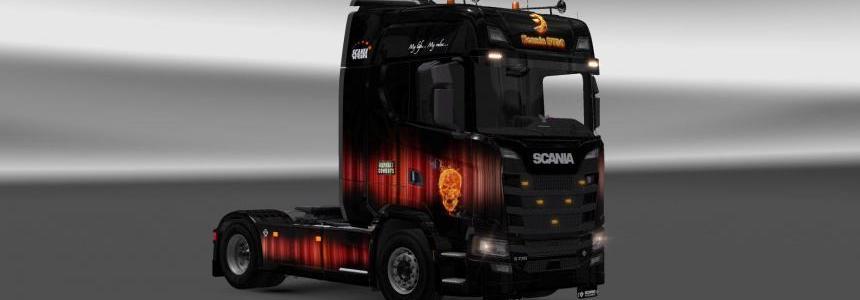 Scania S730 Asphalt Cowboys skin 1.28