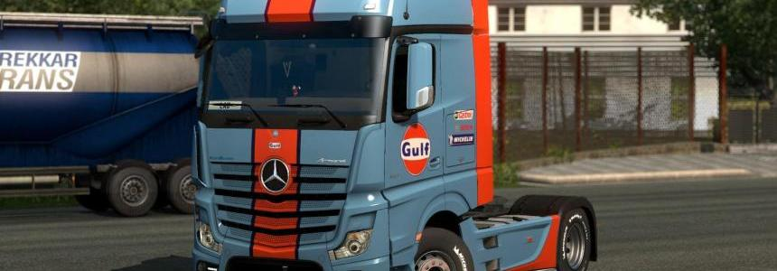 Skin Gulf for Mercedes-Benz Actros MP4 1.28.x