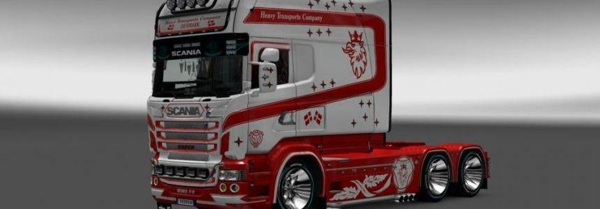 Skin Heavy Transportic Company for Scania RJL Longline