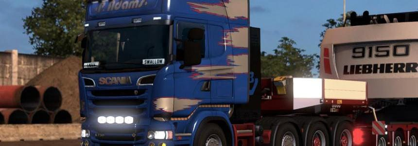 Skin Pack P. Adams for Scania R & Streamline RJL 1.28.x