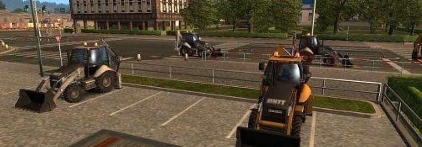 Tractor + trailer – Tractor + bucket in traffic [1.28.x]