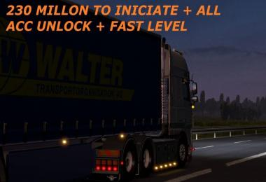 230 MILLON TO INICIATE + ALL ACC UNLOCK + FAST LEVEL