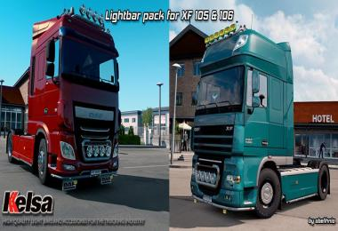 Kelsa Lightbars for DAF XF 105 & 106 v1.2 (1.28)