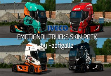 Emotional Trucks skin pack for Iveco Stralis Hi-Way 1.28.x