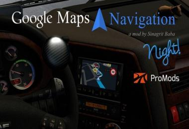 Google Maps Navigation Night Version for ProMods 1.28