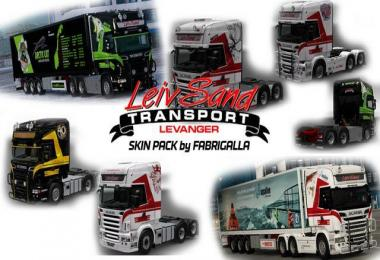 Leiv Sand Skin Pack for RJL's Scania RS 1.28
