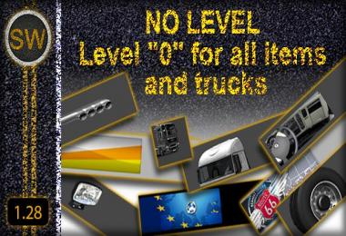 Level 0 for all Items and Trucks 1.28