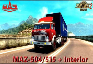 MAZ-504/515 + Interior v1.0 (1.28.x)