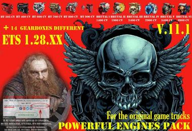 Pack Powerful engines + gearboxes v11.1 for 1.28.x