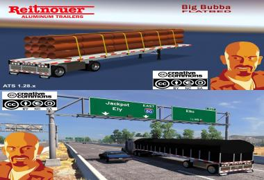 REITNOUER BIGBUBBA FLATBED TRAILER 1.28.x