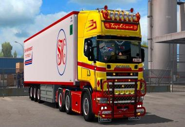 Scania 4 Series (RJL) Red & Yellow + Accessory Pack