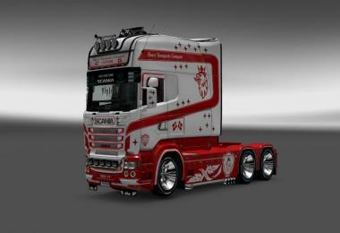 Skin Heavy Transportic Company for Scania RJL Longline
