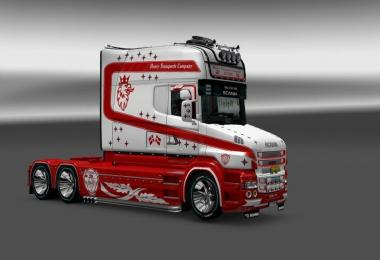 Skin Heavy Transportic Company for Scania T Longline