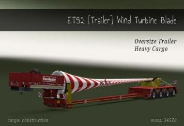 Trailer Wind Turbine Blade 1.28