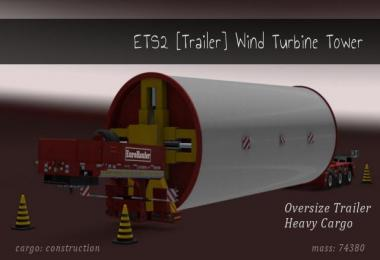 Trailer Wind Turbine Tower 1.27-1.28x